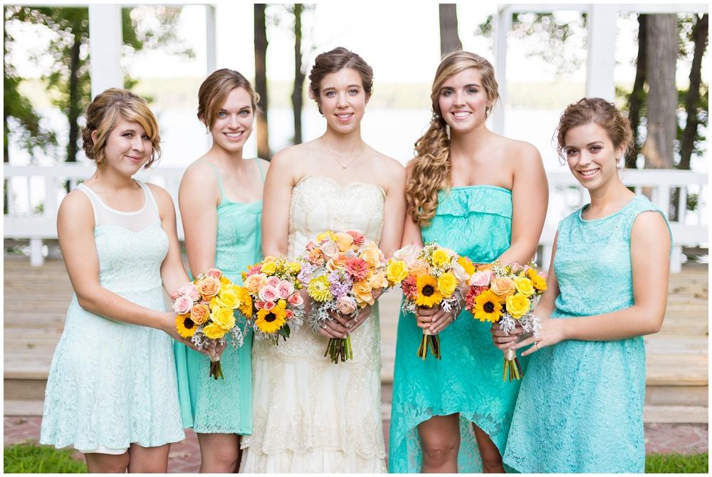 Teal Bridesmaid Dresses, Richmond VA Wedding Photographer