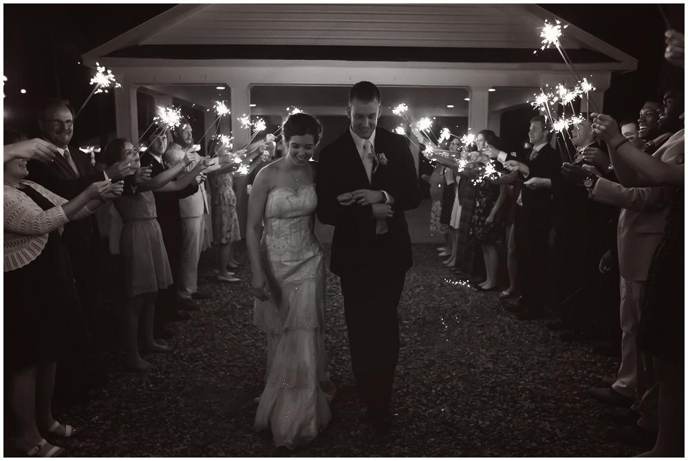 Sparkler exit, Richmond VA Wedding Photographer