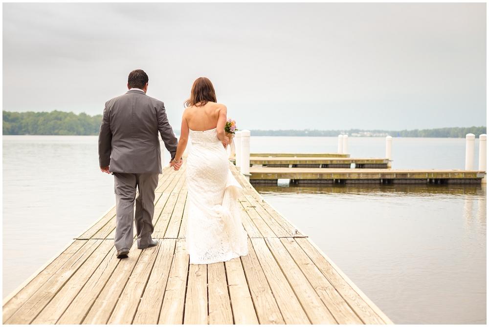 Bridal Portraits on dock