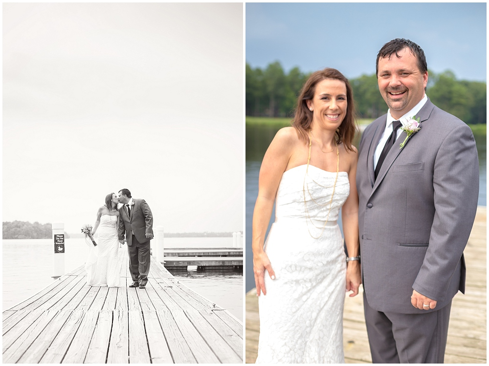 Wedding Pictures on dock