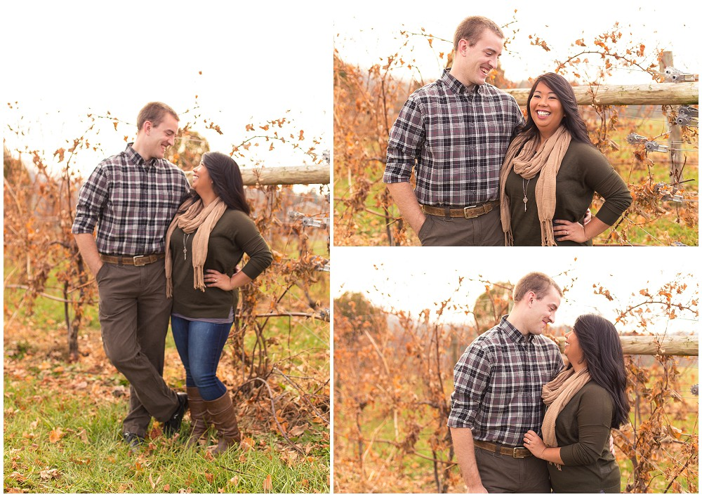 engagement session - mountain vineyard