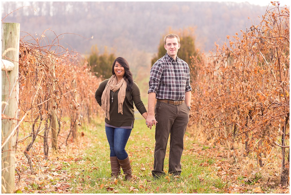 Mountain Vineyard Engagement Session