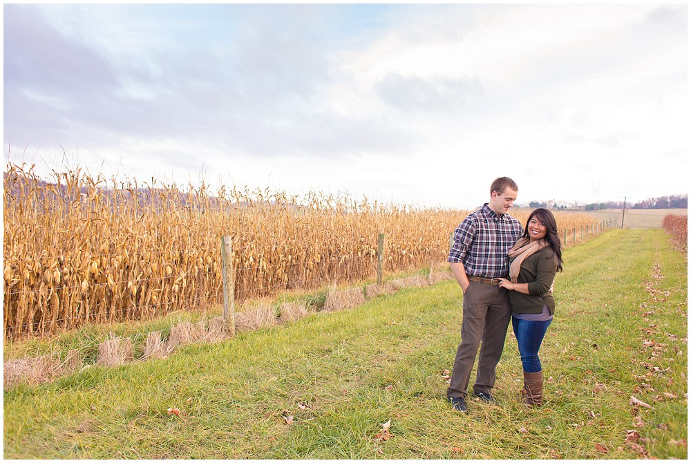 engagement session corn field