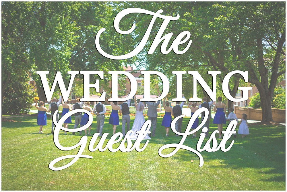 The Wedding Guest List