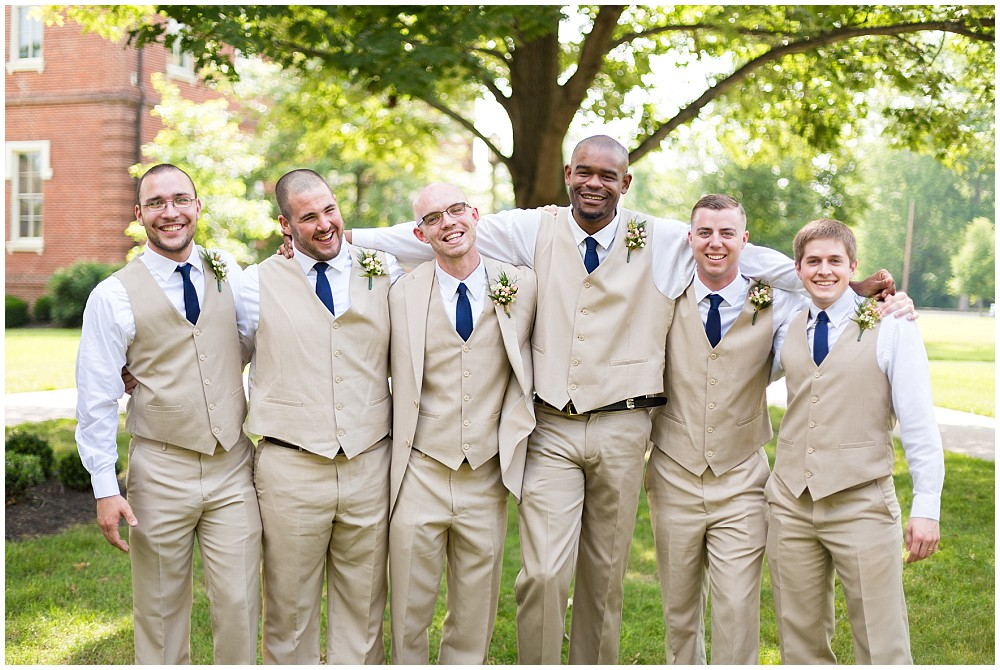 groomsmen tan suits
