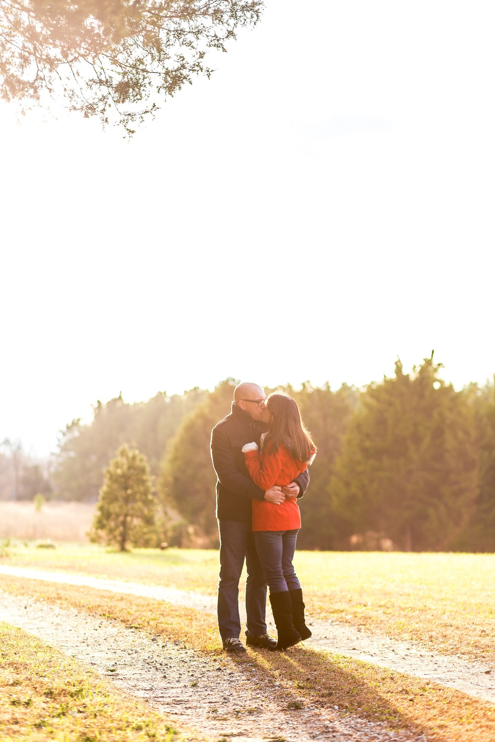 christmas tree farm winter anniversary session in powhatan virginia