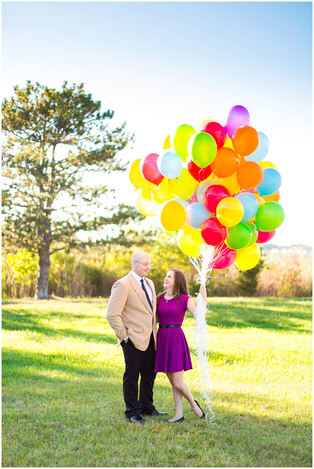 "an ""up"" themed engagement session"