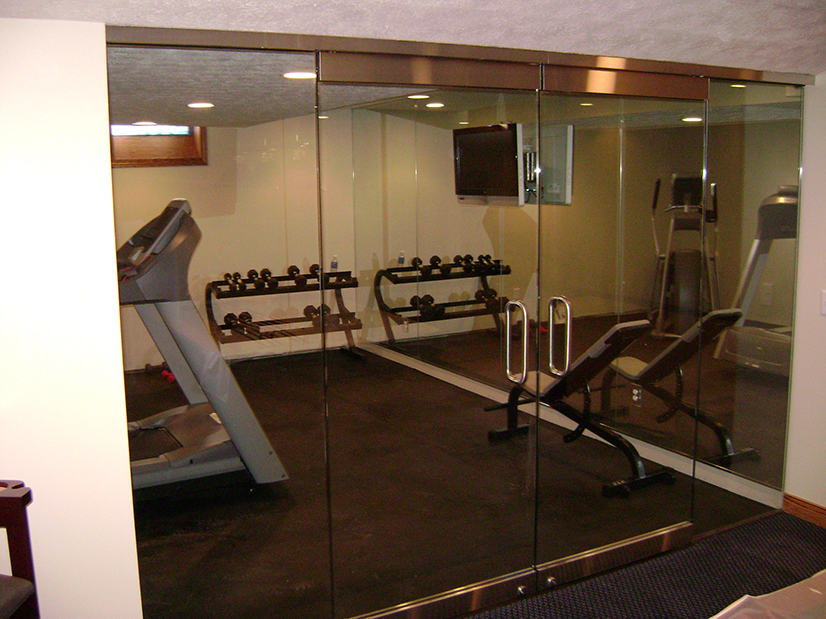 Exercise Room Doors and Mirrors