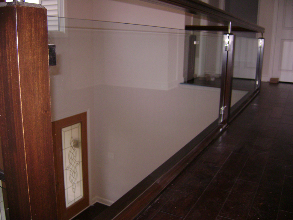 Glass Railing Insert with Clamps