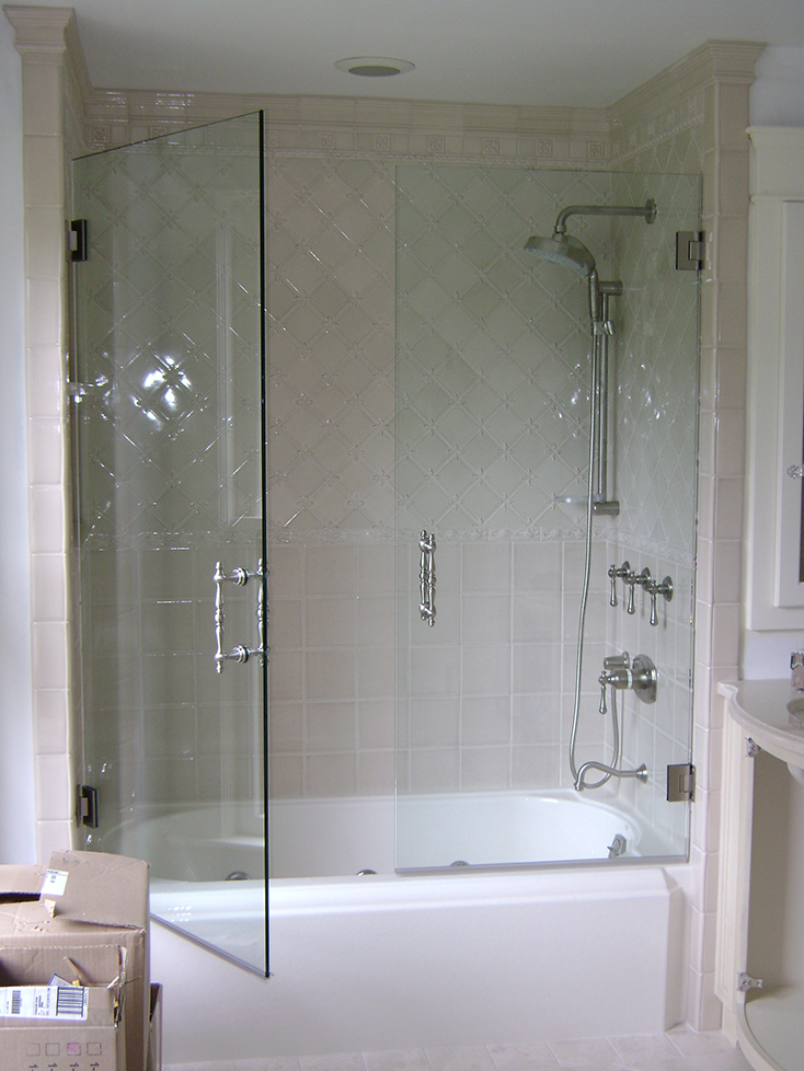 Euro Double Door on Tub