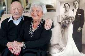 British Couple Morris and Helen Kay. Married 80 years