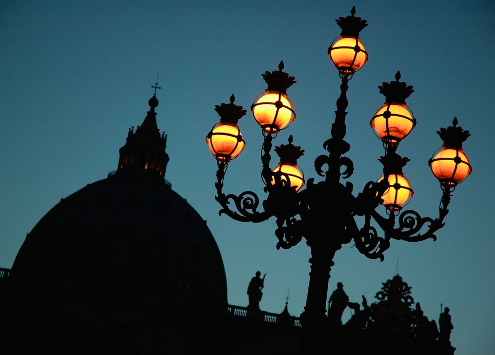 St. Peter's Basilica at Dusk