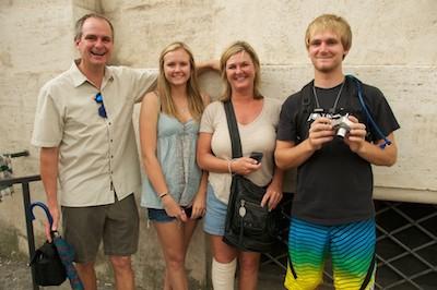 Sullivan Family at Piazza Navona, Rome