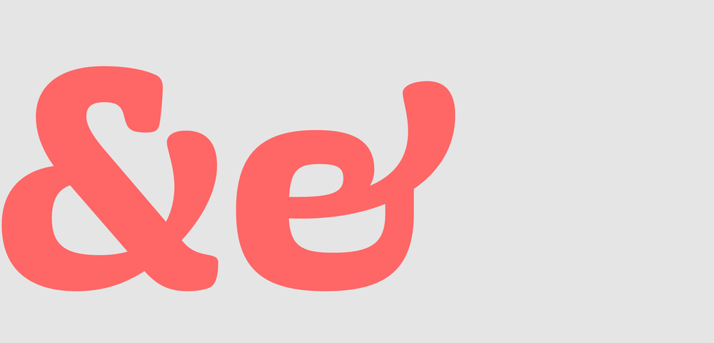Uppercase and lowercase ampersand.
