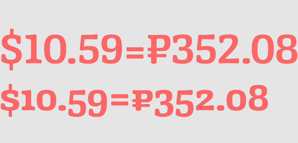 Lining and oldstyle numbers and currency symbols.