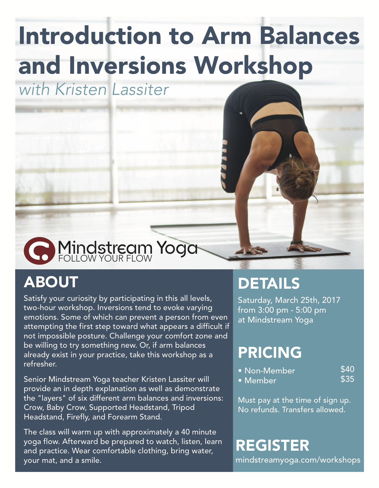 Intro To Arm Balances Inversions Workshop