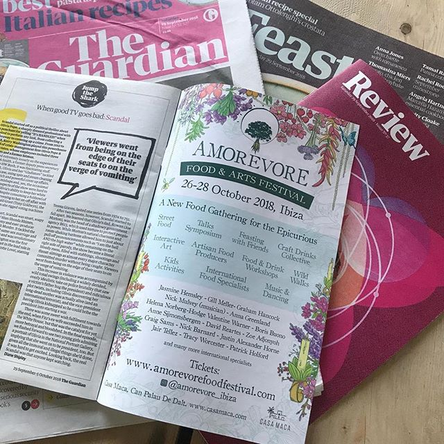 Calling all Guardianistas, see the wonderful Amorevore Food & Arts Festival advert in the Guardian Guide today! We're SUPER proud to be a part of this amazing global team. Get your festival tickets by clicking link in biog #theguardian #theguardianguide #amorevorefoodfestival #amorevorefamily #partnershipmanagement