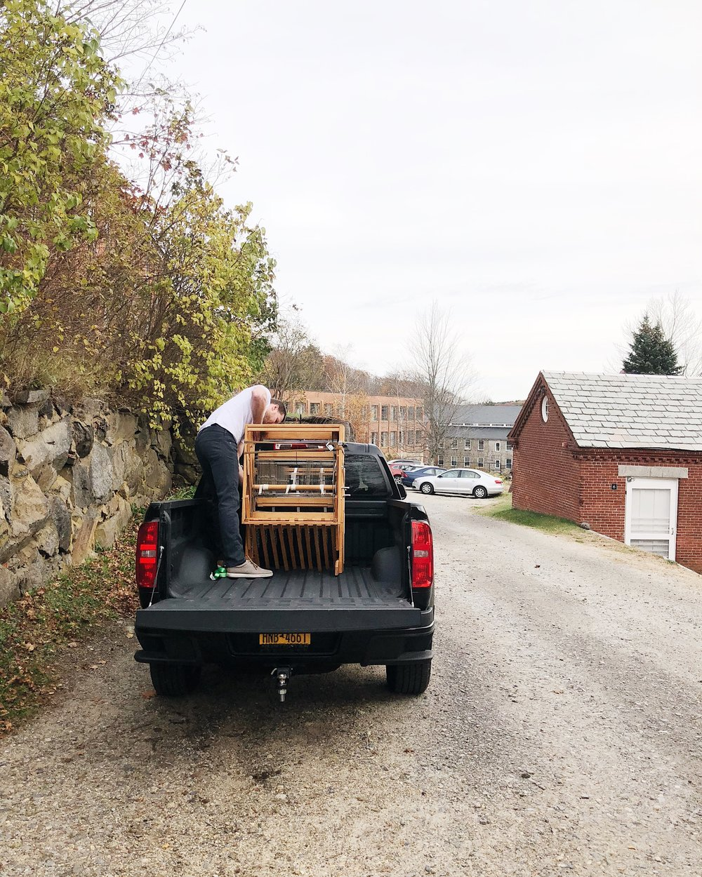Moving a Harrisville Designs floor loom to my home studio.
