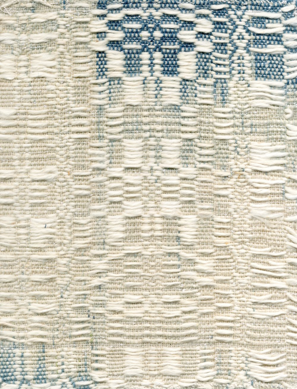 Wool & cotton, ikat resist dyed, 2017. Woven by Rachel Snack.