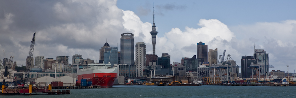 The beautiful harbor city of Auckland.