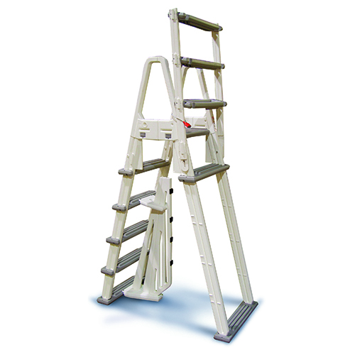 Confer Heavy Duty A-Frame Ladder - White — Maseline Pool & Spa