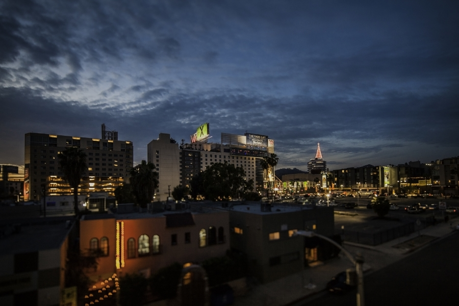 hollywood, christmas, jeffrey nelson photography, landscape photographer, downtown skyline