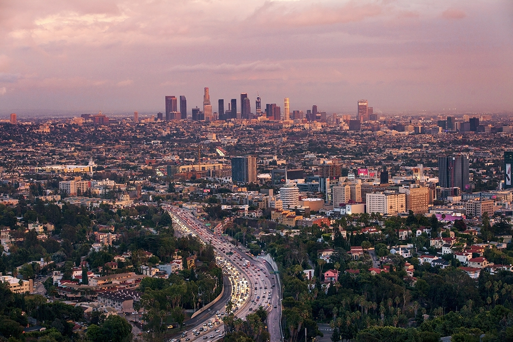 Los Angeles, Landscape photographer, Jeffrey Nelson, cityscapes, Hollywood, Sunset, Hollywood hills, rain, fall in Los Angeles