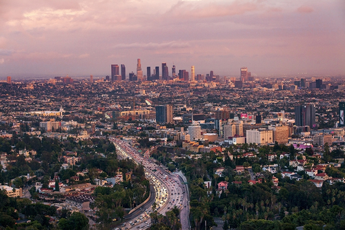 Los Angeles, Landscape photographer, Jeffrey Nelson, cityscapes, Hollywood,  Sunset, Hollywood - Los Angeles Photographers - Jeffrey Nelson-Landscape Photographer