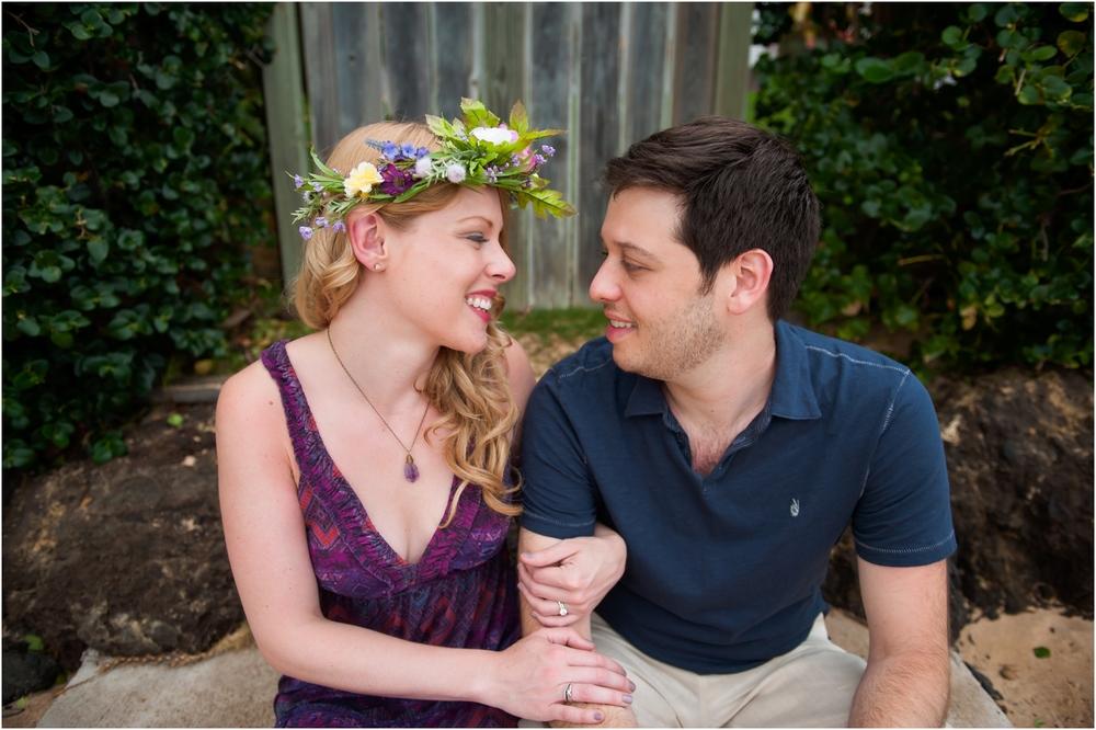 Christina + Jeff's Honeymoon Portraits at Makena Cove