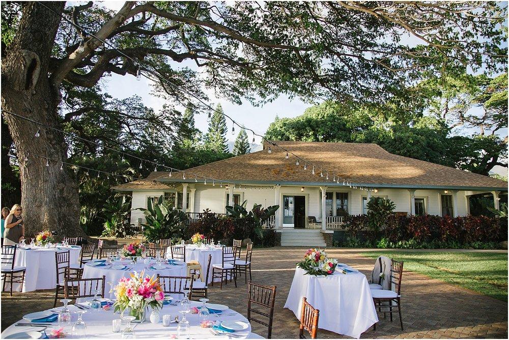 Maui Destination Wedding at Olowalu Plantation House