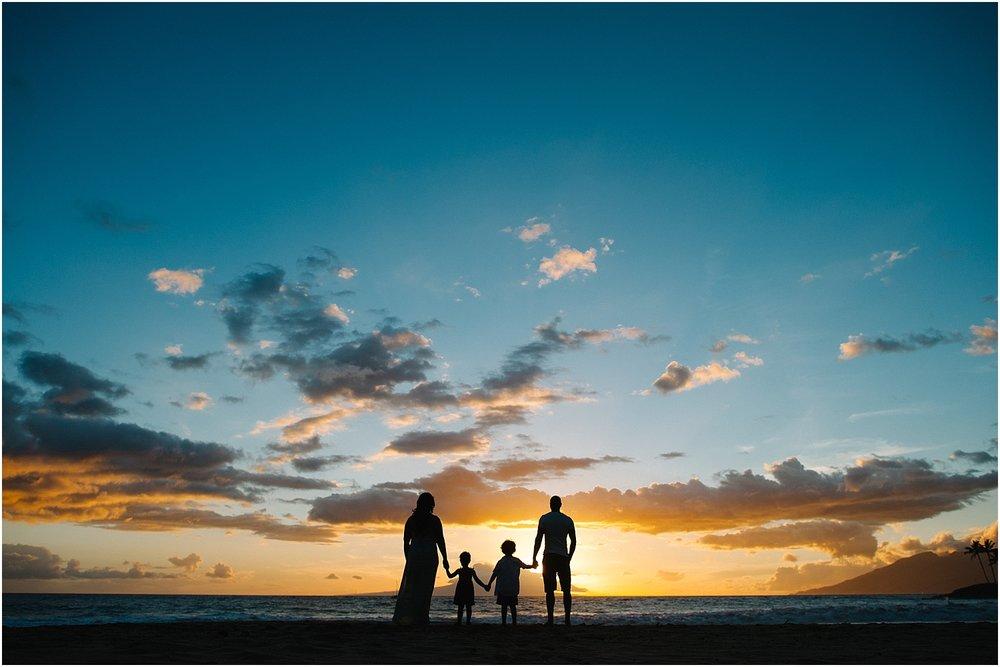 Maui family photography at Po'olenalena Beach in Wailea, Hawaii