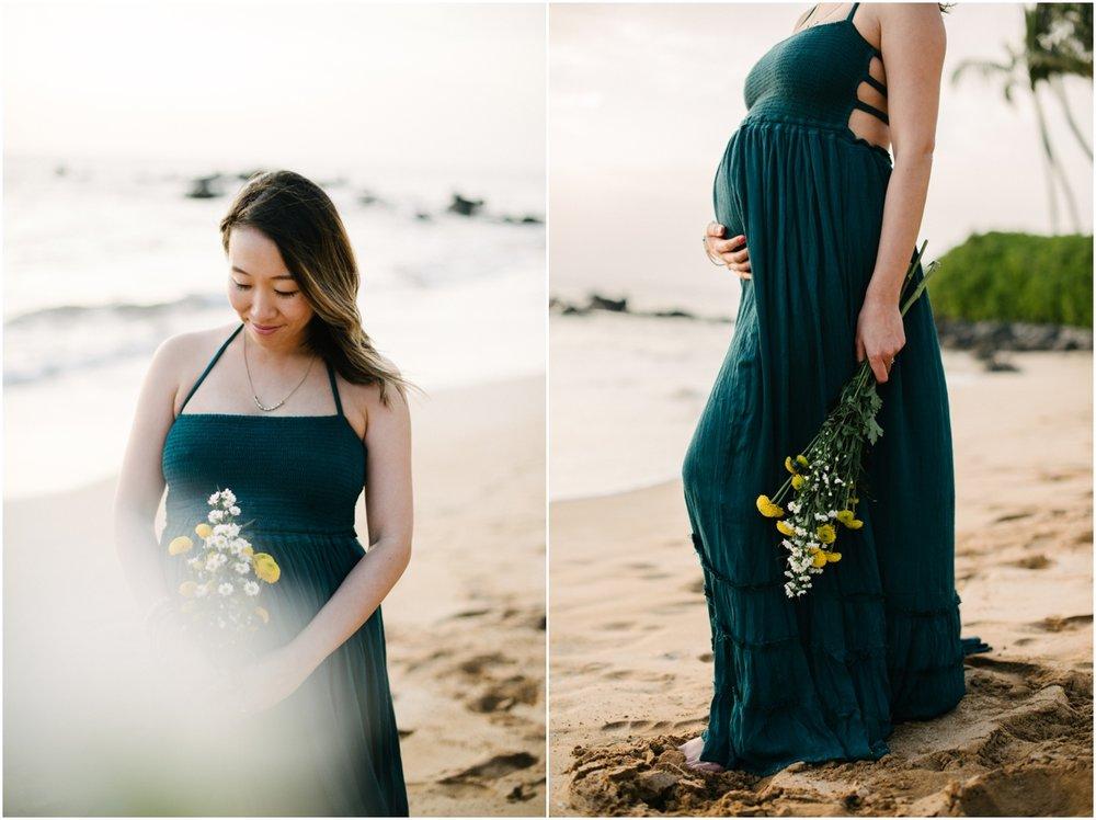 Maui Maternity Beach Picnic in Wailea, Hawaii