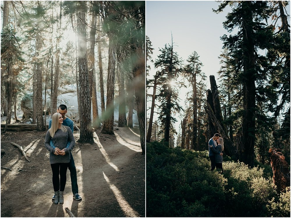 yosemite national park engagement session