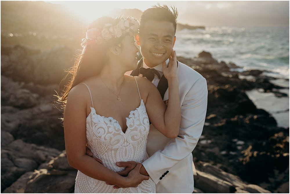 adventurous maui honeymoon session at honolua jungle and ironwoods beach