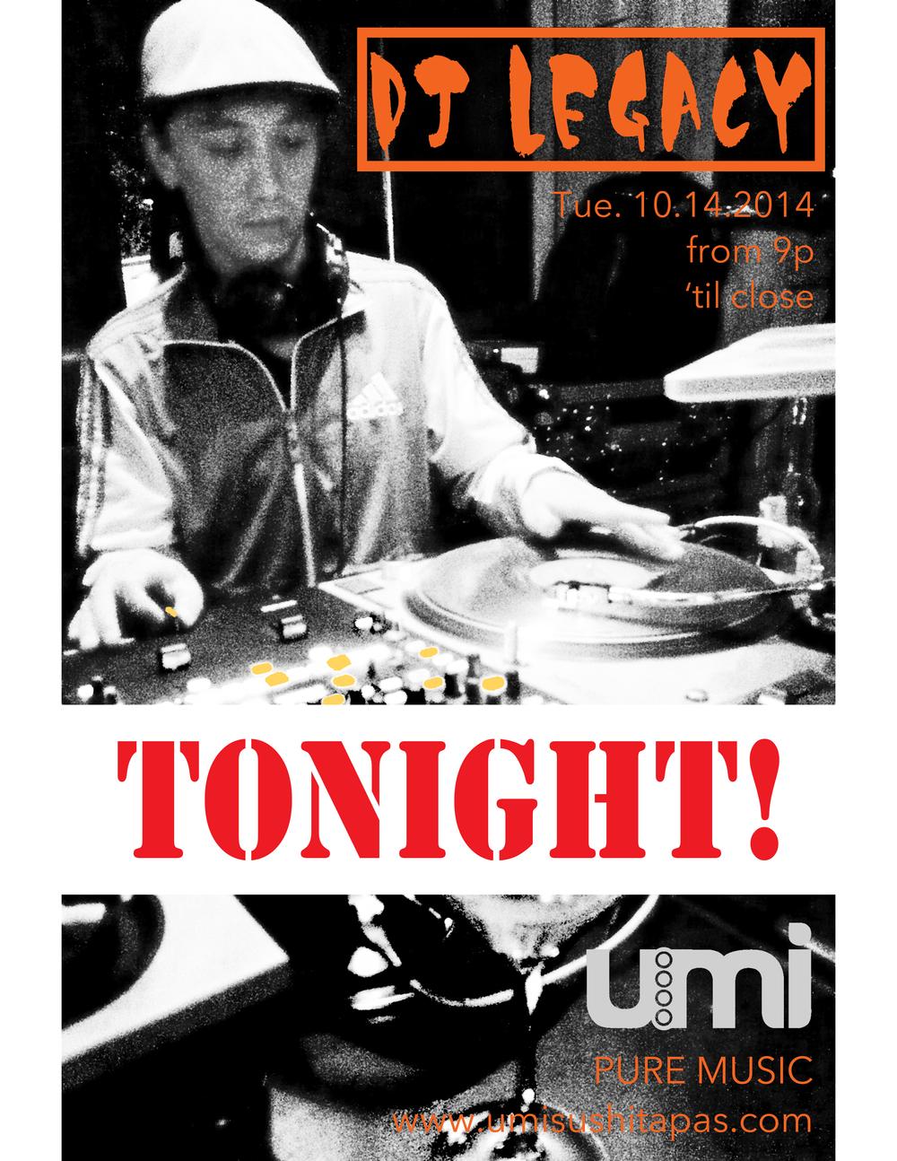 DJ Legacy - GIG1 at Umi