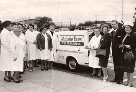 One of the first vehicles at the first branch in East London, 1964