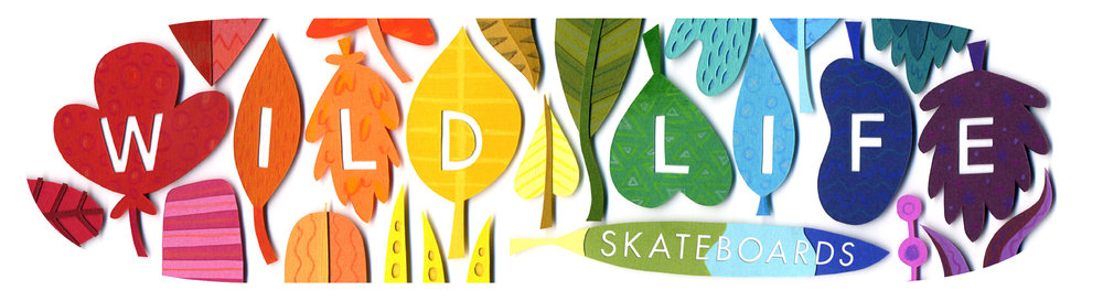 Wild Life Leaves - Skateboard