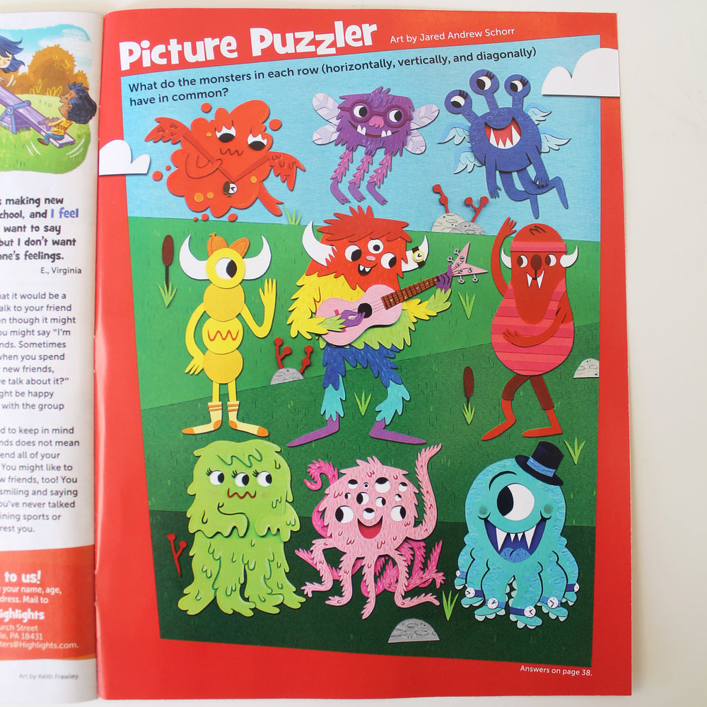 Picture Puzzler - Tic Tac Monster