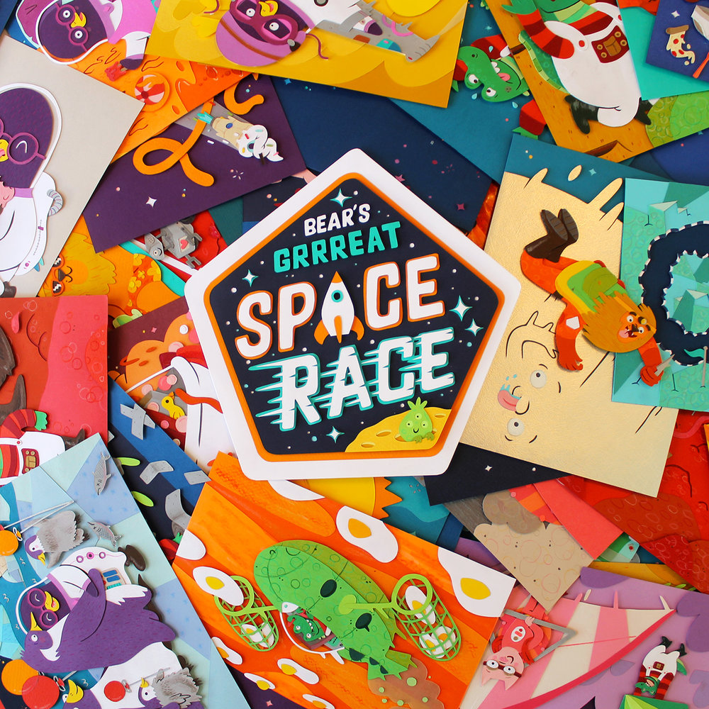NEW  BEAR'S GRRREAT SPACE RACE