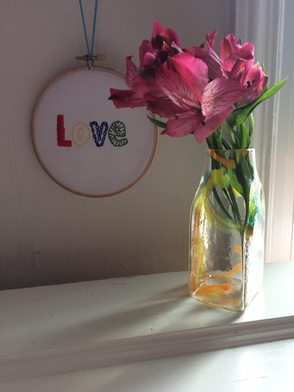 Orange and Yellow Brickyard Vase by Wunder Around_flowersjpg.jpg