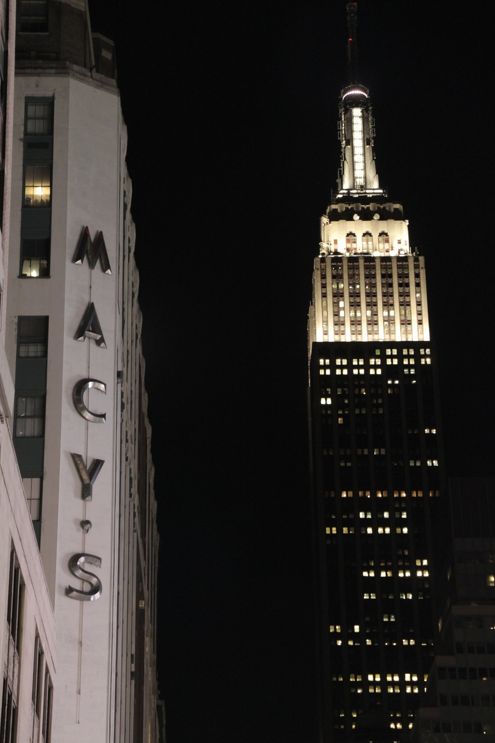 Empire State Building and Macy's