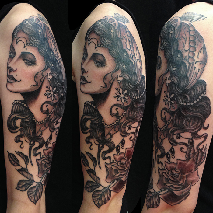 Nate fierro hvt for Traditional black and grey tattoo