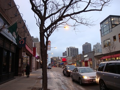 Sunrise over Diversey Avenue? at Clark in the c-c-cold of  Chicago on Thanksgiving Eve. The moment comes when a character does or says something you hadn't thought about. At that moment he's alive and you leave it to him.    …Graham Greene