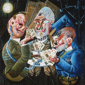 The Skat Players , Otto Dix, 1920.