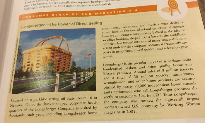 """Longaberger is the premier maker of American-made handcrafted baskets and other quality home and lifestyle products. Annual sales of 8 million baskets and a total of 30 million pottery, dinnerware, wrought-iron, and other home products are accomplished by nearly 70,000 independent home consultants nationwide who sell Longaberger products directly to customers. Led by CEO Tami Longaberger, the company was ranked the eighteenth largest woman-owned U.S. company by  Working Woman  in 2001."""