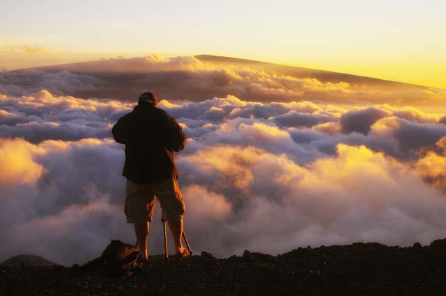 On Mauna Kea photographing Mauna Loa -Big Island, HI.
