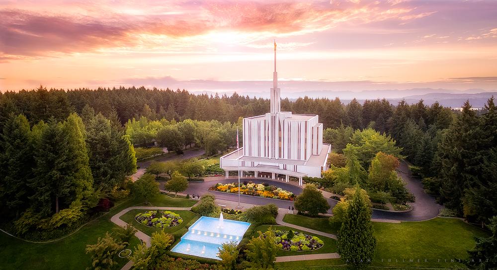 Seattle Northwest Sunrise Aerial