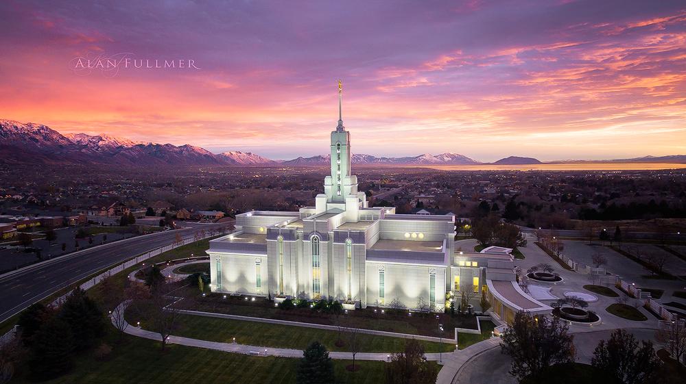 Mount Timpanogos Utah Aerial Temple