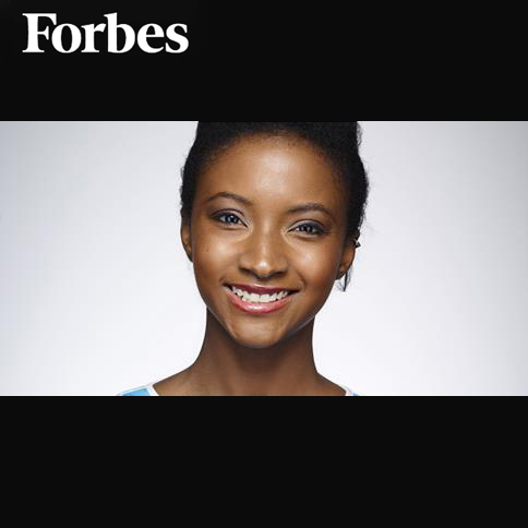 Forbes - Meet Model, Actress, and App Developer (article & video)