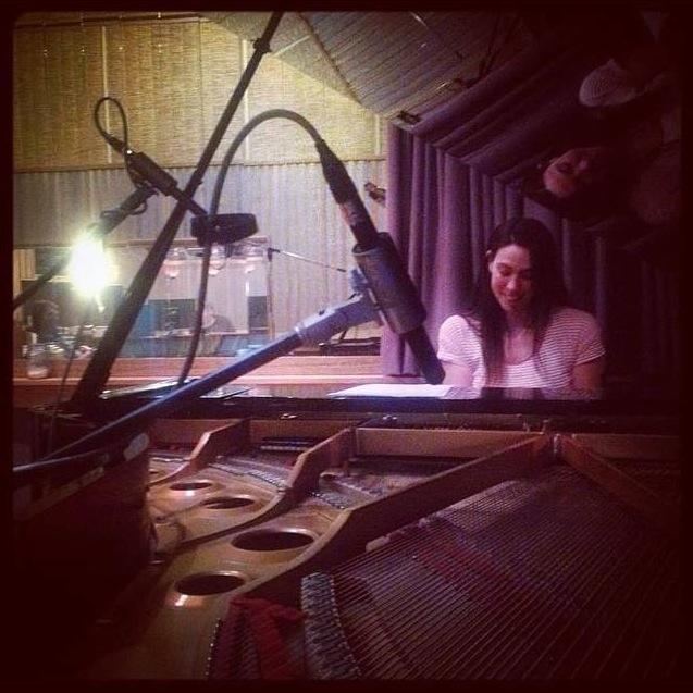 Georgia recording piano for the 'Winter at Westbeth' score, Newmarket Studios Melbourne